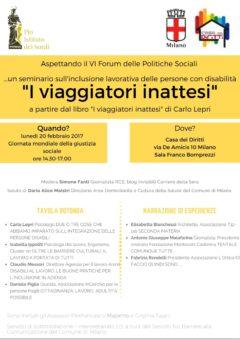 Aspettando il VI Forum delle Politiche Sociali… …un seminario sull'inclusione lavorativa delle persone con disabilità