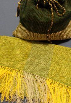 sciarpa in lana e lino