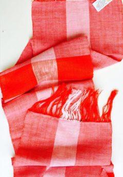 SCIARPA ROSSA lino e cotone